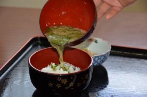 宝海荘・めかぶ汁ごはん300円